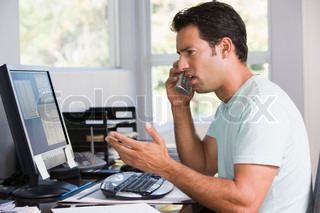 Billede af 'telefon, frustration, Bill'
