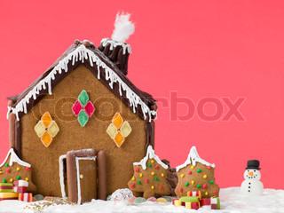 Christmas ginger cake house