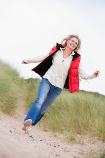 Image of 'outdoors, middle aged, woman'