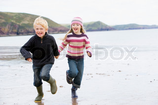 Image of 'running, children, child'