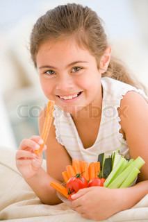 Image of 'vegetables, kids, eating'