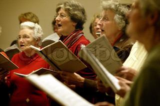 Billede af 'koret, ældre, synge'