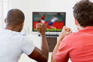 Image of 'tv, watching, football'