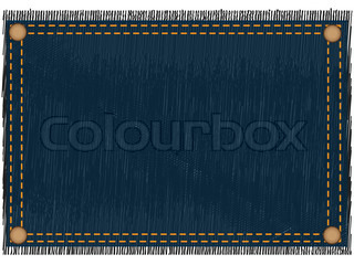rahmen einer jeans stoff mit nieten stock foto colourbox. Black Bedroom Furniture Sets. Home Design Ideas