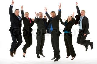 Bild von 'Mitarbeiter, Mitarbeiter finden, springend'