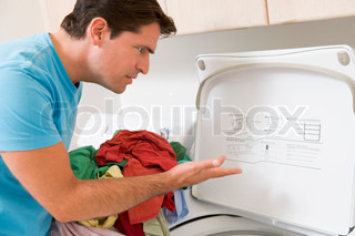 Image of 'man, housework, instructions'