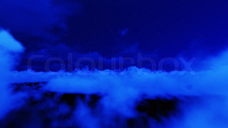 Night stars in sky and cloud
