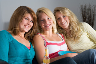Image of 'girls, 15 year old, three people'