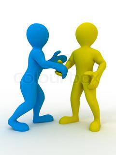 Handshake. 3d