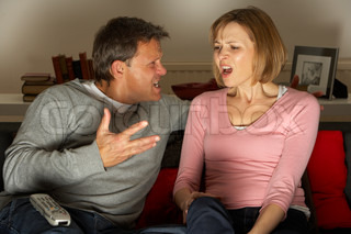Image of 'couple, arguing, tv'