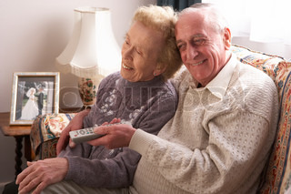 Image of 'old, couple, smiling'