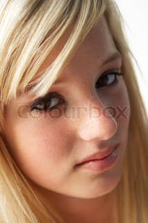 Image of 'looking at camera, one person, blonde'