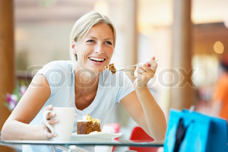 Image of 'cafe, woman, cup'