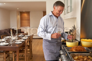 Image of 'cooking, home, senior adult'