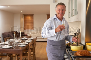 Image of 'cooking, man, dinner'