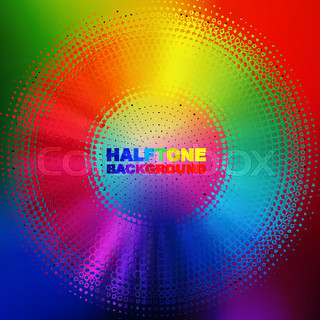 abstract color halftone circle