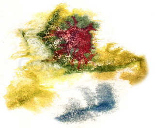 splash green, red, blue paint blot watercolour color water ink i