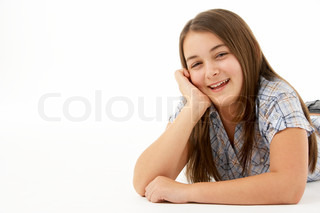 Image of 'teenagersmiling, teenage, laying'