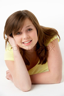 Image of 'studio, girl, happy'
