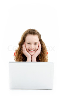 Image of 'white background, lying down, 11 year old'