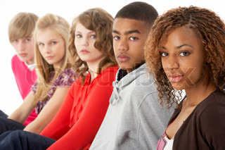 Image of 'teen, group, african american'