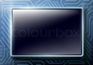 square button with text on chips background