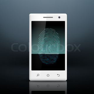 question mark on a fingerprint