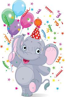 Grafiken von 'elefant, geburtstag, elephant'