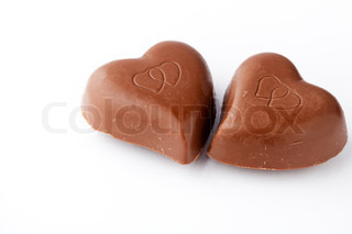 Chocolate hearts for Valentines Day