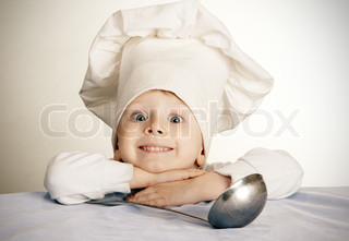 Image of 'chef, hat, metal'