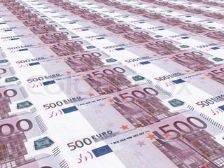 Euro background. Five hundred euros.