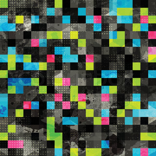 abstract grunge pixel seamless