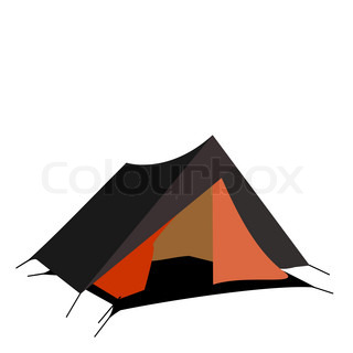 Tourist tent isolated on a white background. Vector