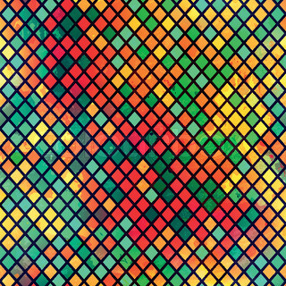 multicolor mosaic seamless pattern with grunge effect