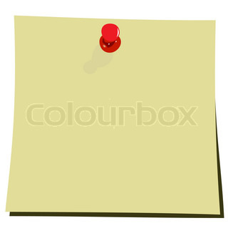 Realistic illustration of yellow note pad - vector