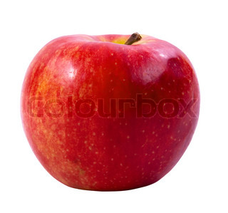 Red apple isolated on white background(clipping path included)