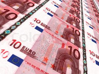 Euro background. Ten euros.