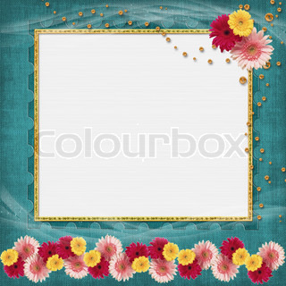 Vintage  frame for photo on vintage background
