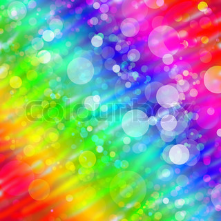 Multicolored abstract bokeh background