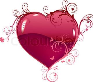 Vector of 'heart, swirl, frame'