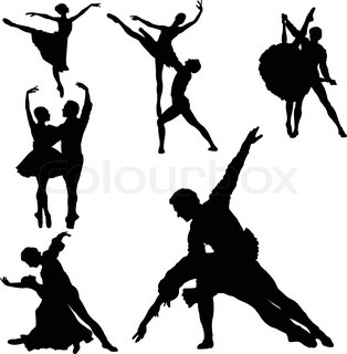Vector of 'ballet, art, ballerina'
