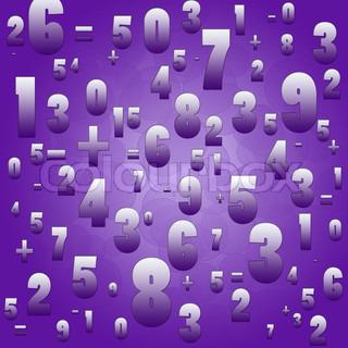 mathematik zahlen und zeichen auf violetten hintergrund stock foto colourbox. Black Bedroom Furniture Sets. Home Design Ideas