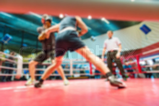 Boxing blur background