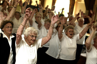 active elderly people dancing it good for health