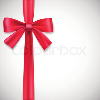 Green ribbon with bow.