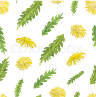Abstract hand drawn flower background. Floral seamless pattern