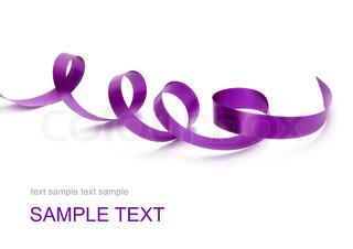Image of 'purple, ribbon, christmas'