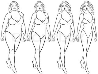 Woman on the way to lose weight