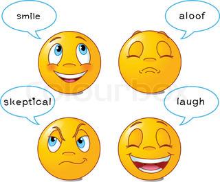 Yellow smiley | Vector | Colourbox
