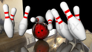 knocking down bowling